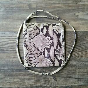 Vintage Saks Snakeskin crossbody bag